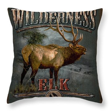 Wilderness Elk Throw Pillow