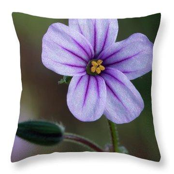 Wilderness Flower 3 Throw Pillow