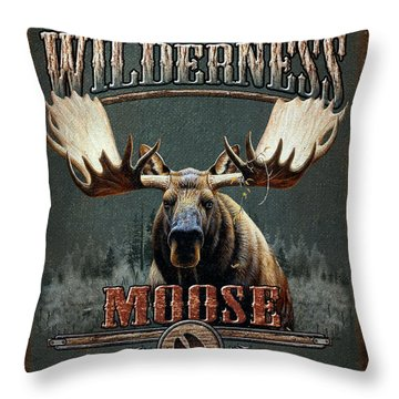 Wilderness Moose Throw Pillow