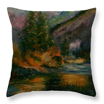 Wilderness Stream Throw Pillow
