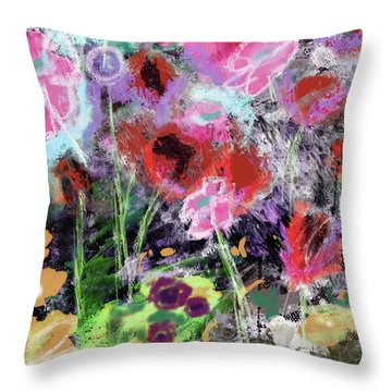 Wildest Flowers 2- Art By Linda Woods Throw Pillow
