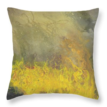 Throw Pillow featuring the painting Wildfire by Antonio Romero