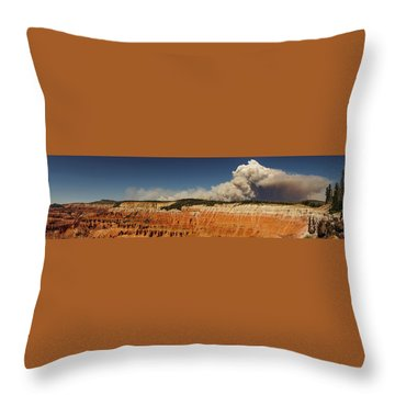 Wildfire Cedar Breaks National Monument Utah Throw Pillow