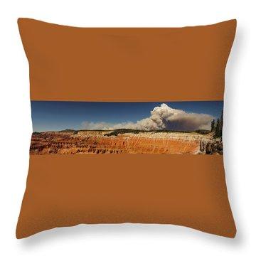 Wildfire Cedar Breaks National Monument Utah Throw Pillow