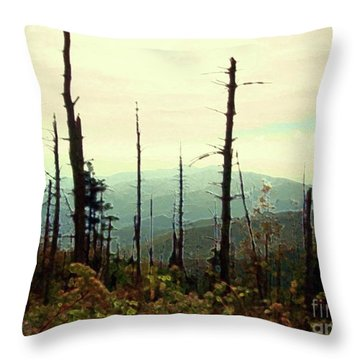 Throw Pillow featuring the mixed media Wildfire by Desiree Paquette