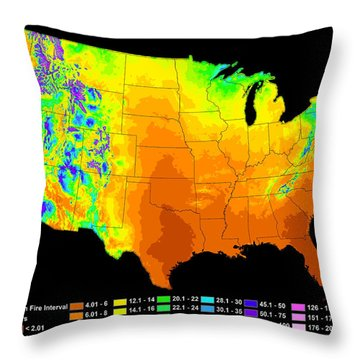 Wildfire Frequency Throw Pillow