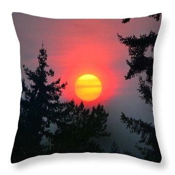 Wildfire Sunset Throw Pillow