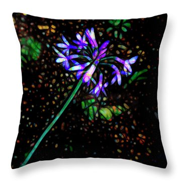 Wildflower Throw Pillow by Ann Powell