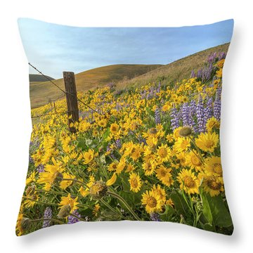 Wildflower Bonanza Throw Pillow