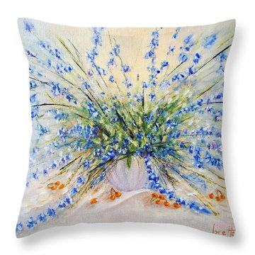 Wildflower Celebration Throw Pillow by Loretta Luglio