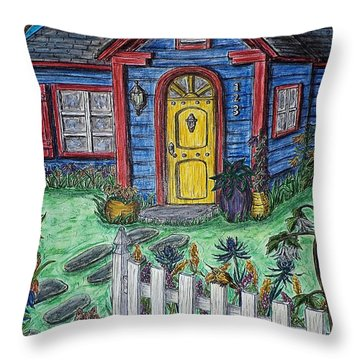 Wildflower Cottage Throw Pillow