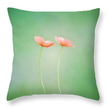 Wildflower Duet Throw Pillow