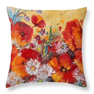 Wildflower Meadows Throw Pillow