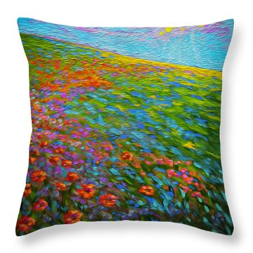 Wildflower Pastoral Throw Pillow