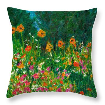 Wildflower Rush Throw Pillow