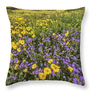 Throw Pillow featuring the photograph Wildflower Super Bloom by Peter Tellone
