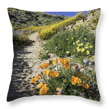 Wildflower Wash Throw Pillow