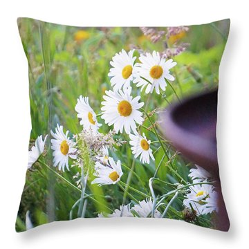 Wildflowers Throw Pillow by Angi Parks