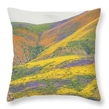 Throw Pillow featuring the photograph Wildflowers At The Summit by Marc Crumpler