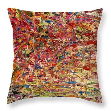 Wildflowers Dancing With The Light Throw Pillow