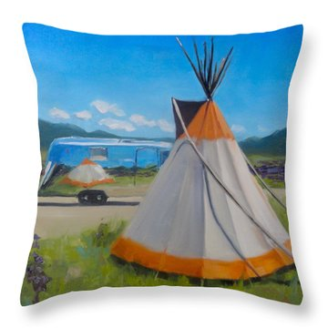 Wildflowers In Angel Fire Throw Pillow
