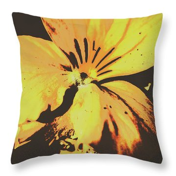 Wildflowers In Posterization Throw Pillow