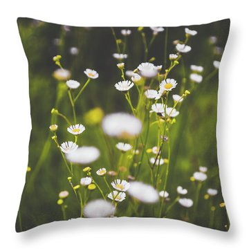 Throw Pillow featuring the photograph Wildflowers In Summer by Shelby Young