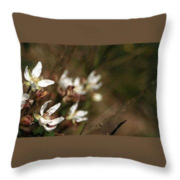 Wildflowers Throw Pillow by Marna Edwards Flavell