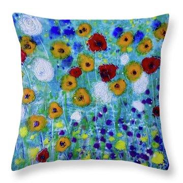 Wildflowers Never Fade Throw Pillow