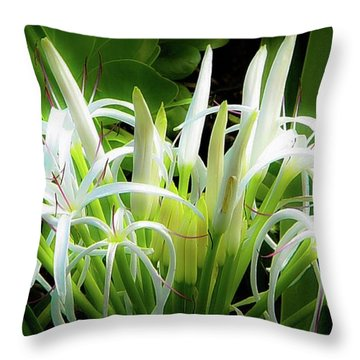 Wildflowers Of Hawaii Throw Pillow