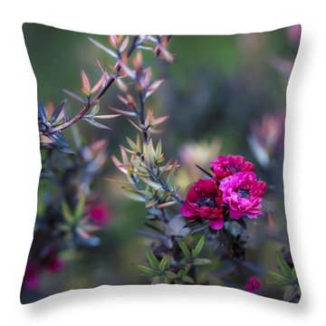 Wildflowers On A Cloudy Day Throw Pillow