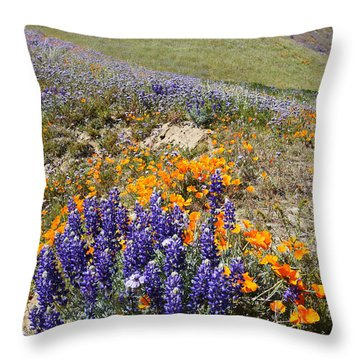 Wildflowers Portrait 2 Throw Pillow
