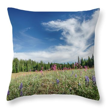 Wildflowers Reach For The Sky Throw Pillow