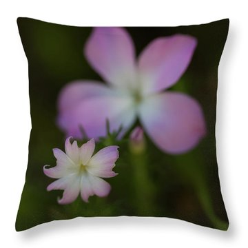 Throw Pillow featuring the photograph Wildflowers by Roger Mullenhour