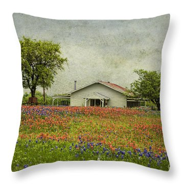 Throw Pillow featuring the photograph Wildflowers Texas by Elena Nosyreva