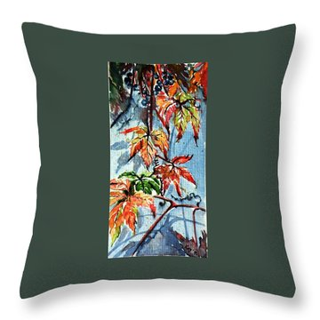Throw Pillow featuring the painting Wildgrape by Kovacs Anna Brigitta