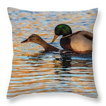 Wildlife Love Ducks  Throw Pillow
