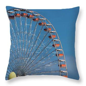 Wildwood Ferris Wheel Throw Pillow