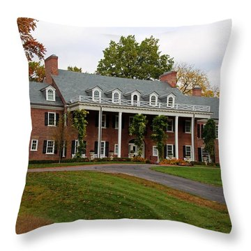 Wildwood Manor House In The Fall Throw Pillow