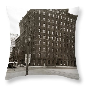 Wilkes Barre Pa Hollenback Coal Exchange Building Corner Of Market And River Sts April 1937 Throw Pillow