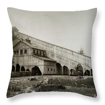 Wilkes Barre Twp Pa Empire Number 5 Coal Breaker 1880 Lehigh And Wb Coal Co. Throw Pillow