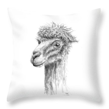 Throw Pillow featuring the drawing Will by K Llamas