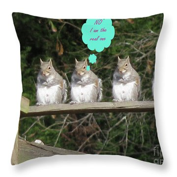 Throw Pillow featuring the photograph Will The Real One Stand Up by Donna Brown