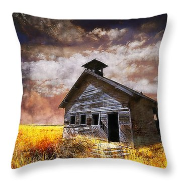 Throw Pillow featuring the photograph Will This Be The Way Of Education In The Us by Jeff Burgess