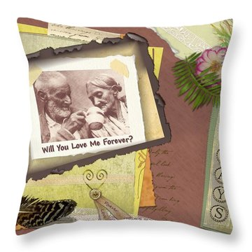 Throw Pillow featuring the photograph Will You Love Me Forever by Kathy Tarochione