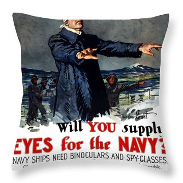 Will You Supply Eyes For The Navy Throw Pillow