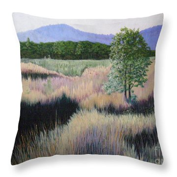 Willamette Evening Shadows Throw Pillow