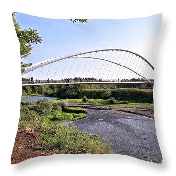 Willamette Pedestrian Bridge Throw Pillow