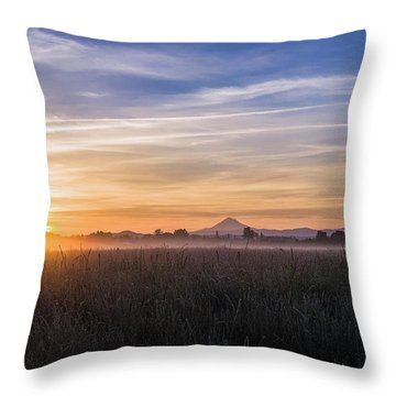 Willamette Valley Sunrise Throw Pillow