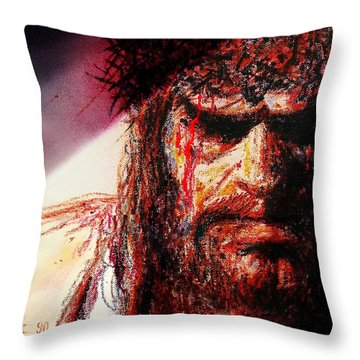 Willem Dafoe - Actor Throw Pillow by Hartmut Jager